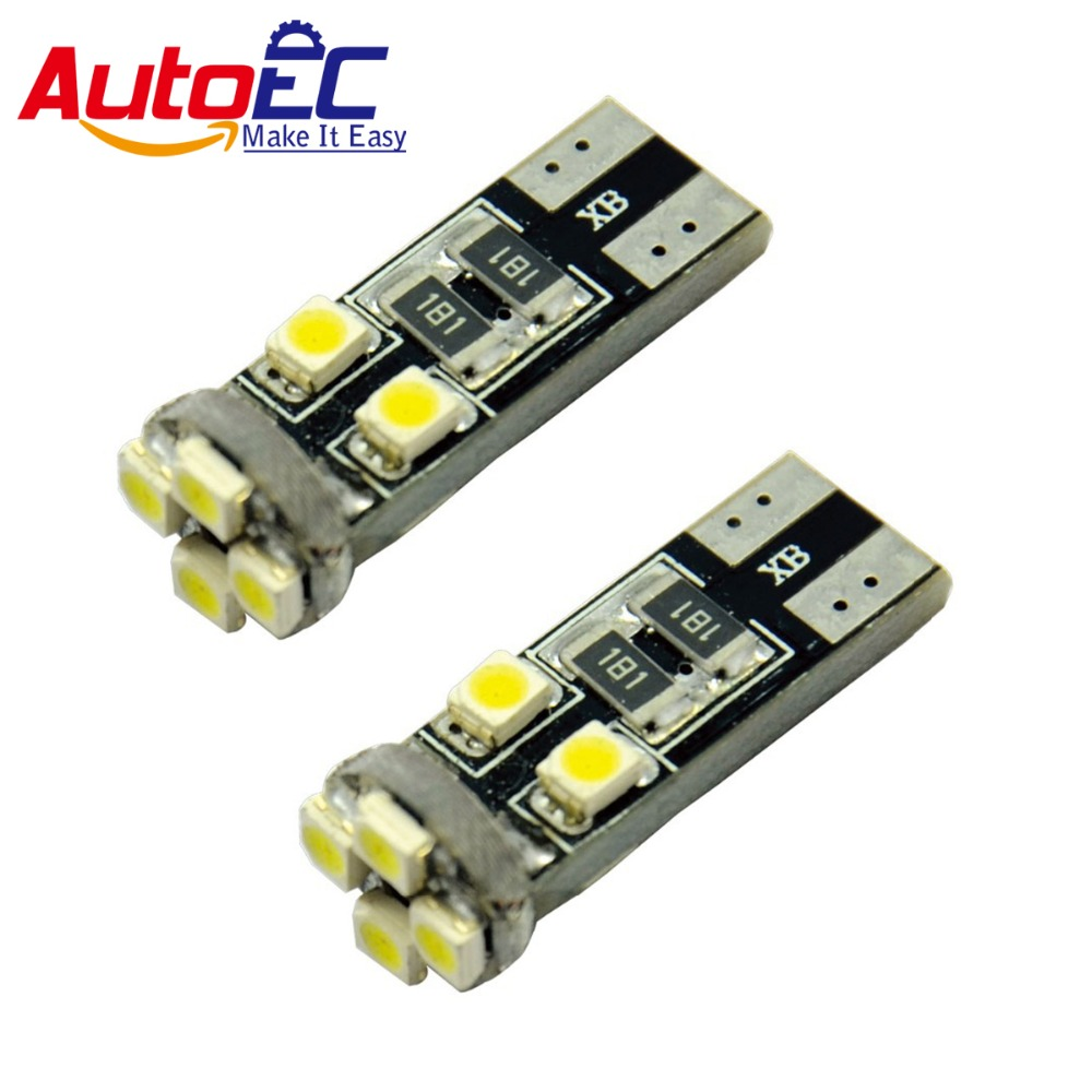 AutoEC <font><b>100x</b></font> Automobile lamps <font><b>T10</b></font> <font><b>led</b></font> canbus error free 8 smd 1210 3528 <font><b>led</b></font> DC 12V white bule red green #LB17 image