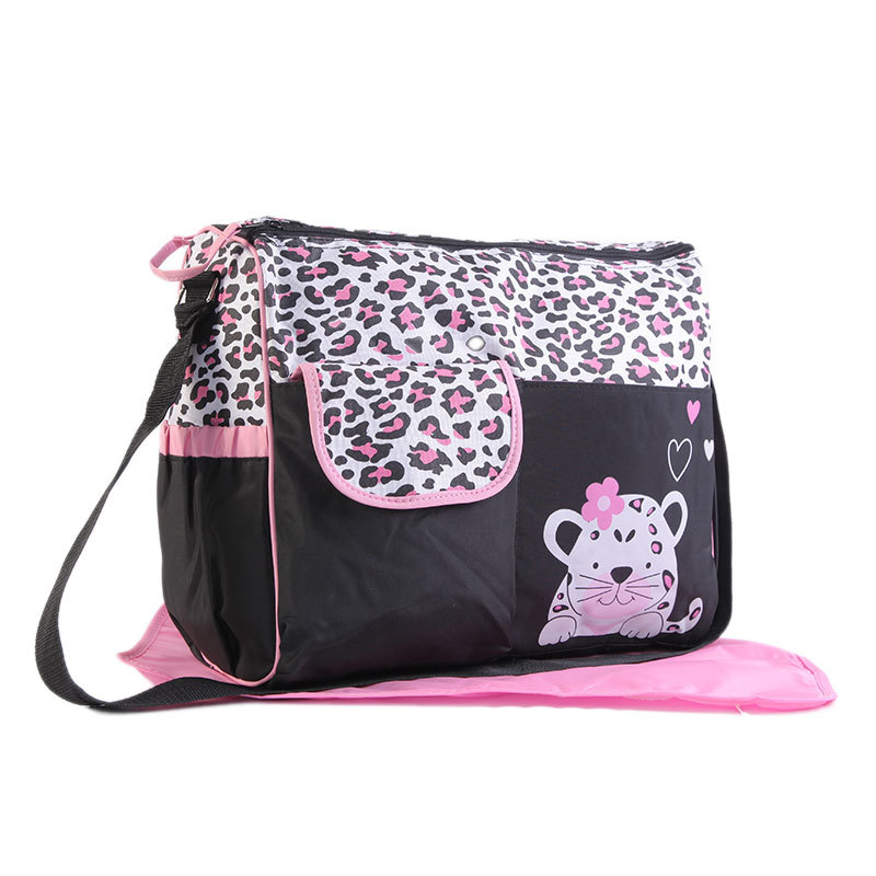 Multi function Mummy bag large capacity maternal and child package fashion cartoon waiting bag portable mother bag in Diaper Bags from Mother Kids