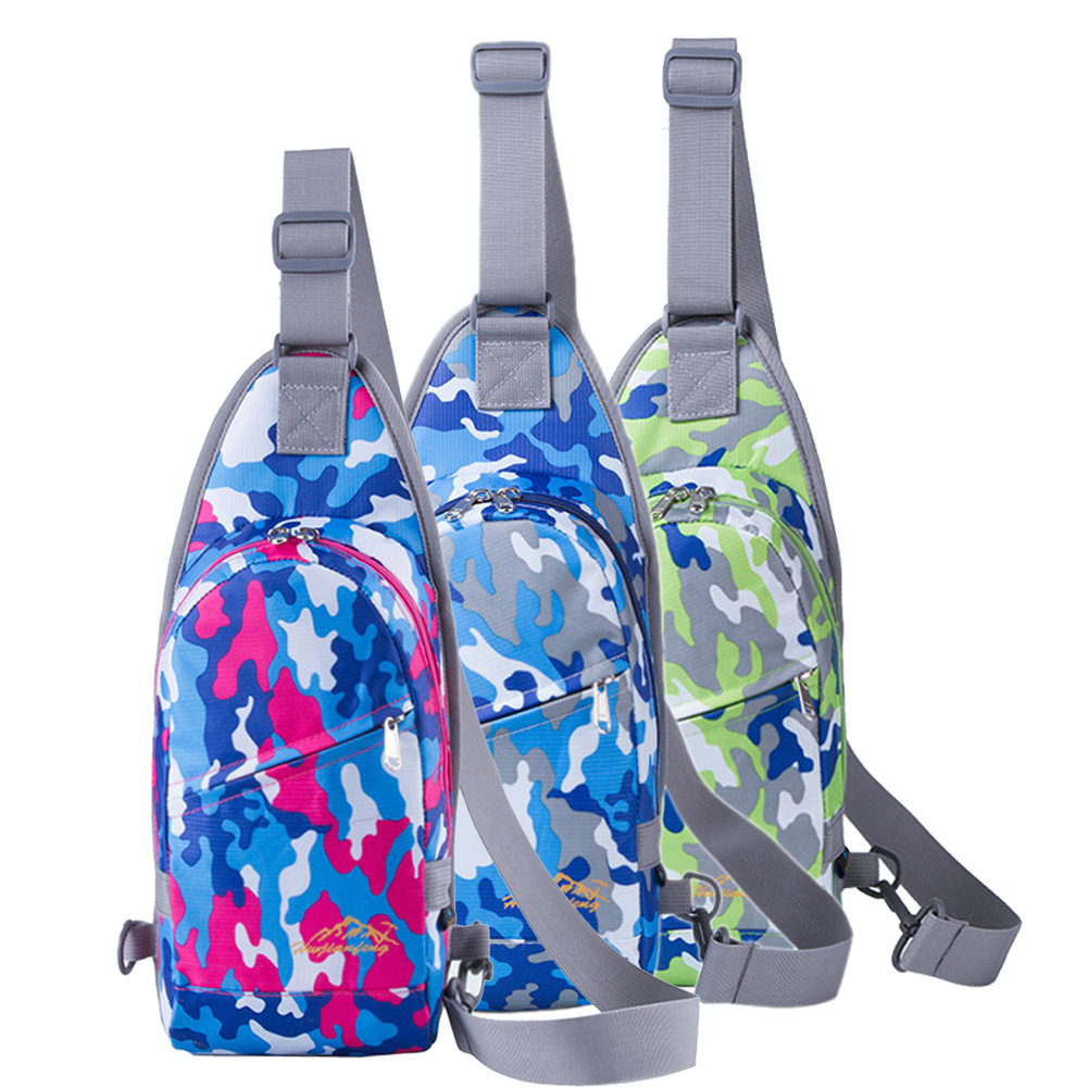 Impermeable Camuflaje Pecho Bolsas Hombres Mujeres Running Deportes Al Aire Libr