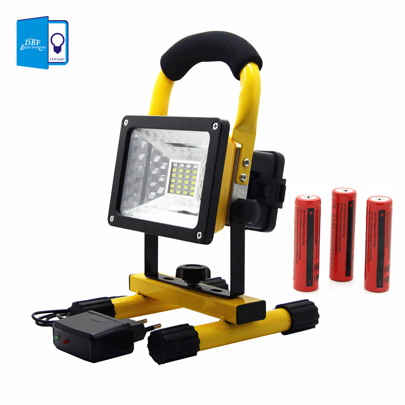 Waterproof 24LED 3models LED Flood light Portable Spotlights Rechargeable Outdoor LED Emergency light + 3*18650 battery +chargerWaterproof 24LED 3models LED Flood light Portable Spotlights Rechargeable Outdoor LED Emergency light + 3*18650 battery +charger