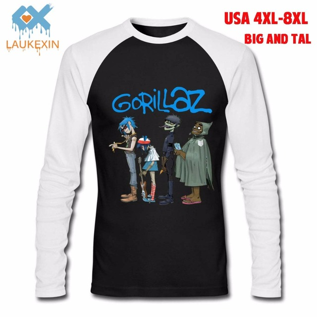 eebd39d9e6f USA 4XL -8XLT Rock Band Rap Hip Hop Big and Tall Plus Size Music Concert T  Shirts Funny Printed Cotton Long Sleeve Tees