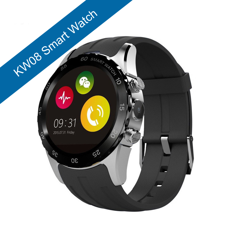 ФОТО KW08 reloj smartwatch reloj inteligente Support TF And SIM card With NFC camera Function smart watch women for iphone android
