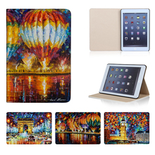 Printed White House Eiffel Tower Tablets Smart Cover For iPad Mini 1 2 3 4 Leather 7.9 inch Case Stand Protective Sleeve Cover