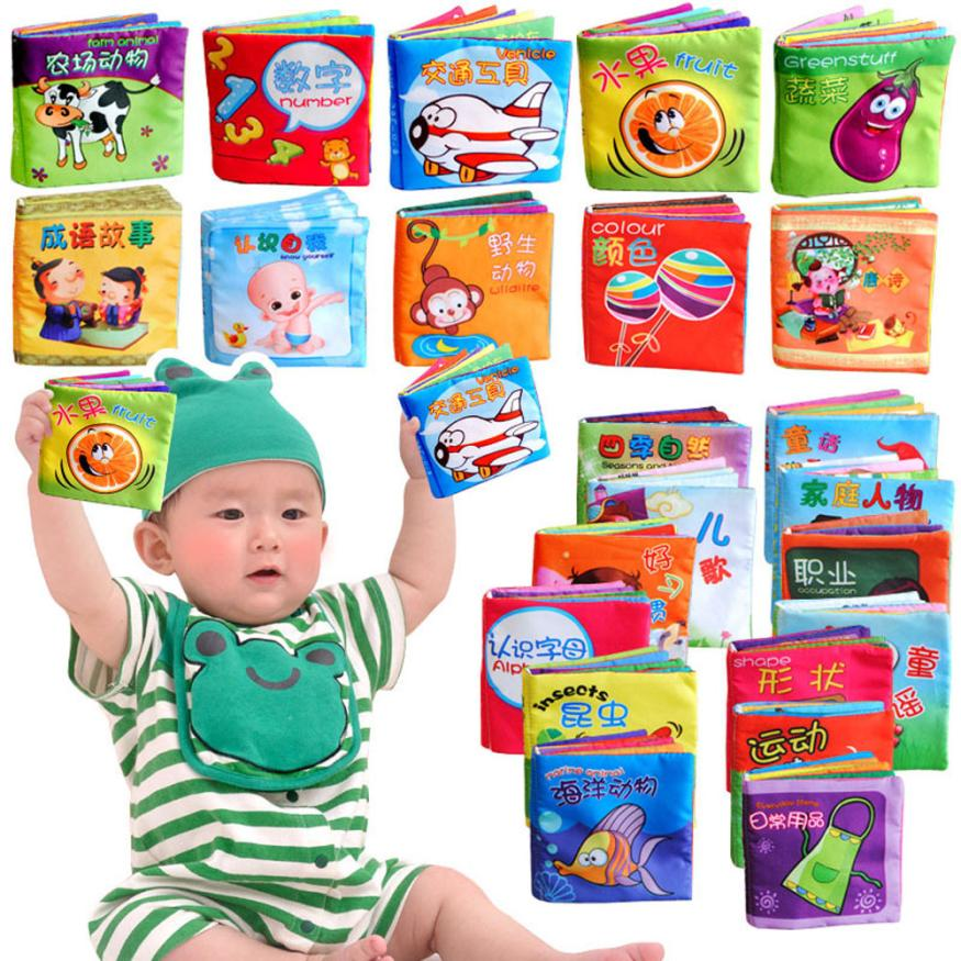 CHANSEEND HOT Sell  Intelligence Development Cloth Fabric Cognize Book Educational Toy ForKid Baby Dropshopper