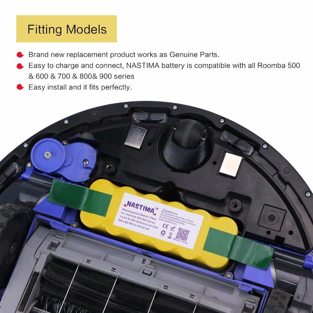 Baterias Recarregáveis da bateria estendida-compatível com robôs Capacidade Nominal : 3000mah