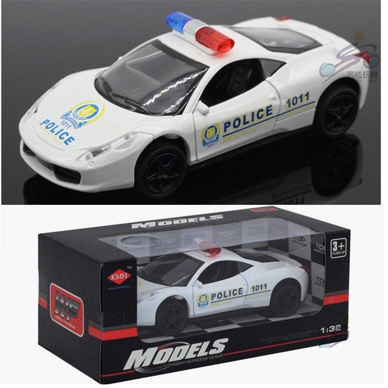 New Listing Alloy Police Cars 1:32 Motor Racing/Sport Car Model toys ...