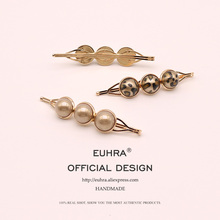 EUHRA Leopard Pearl Barrettes Cute Hair Pins Bobby Pin Girls Clip Grips Women Bob
