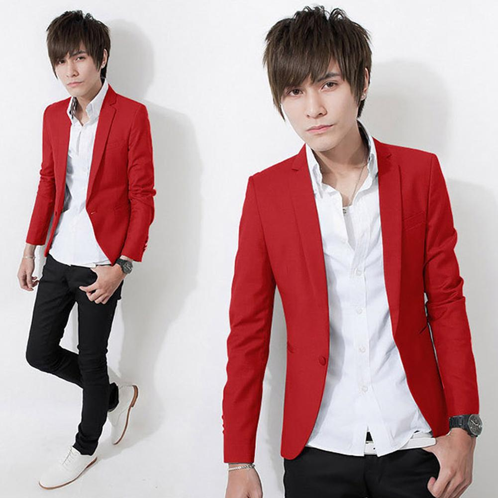 2020 Autumn Blazers Men One Button Men Blazer Slim Fit Costume Homme Suit Jacket Masculine Blazer Size M-3XL Outwear Top