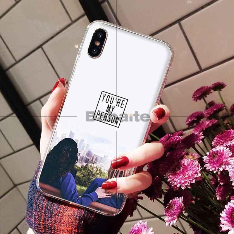 Babaite Amerika TV Grays Anatomy Transparan Cell Phone Case untuk Apple Iphone 8 7 6 6S Plus X XS MAX 5 5S SE XR Ponsel Kasus