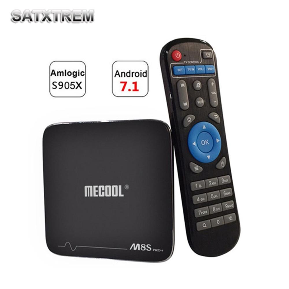 HOT M8S PRO PLUS Android 7.1 TV Box Amlogic S905X CPU Quad Core 2GB/16GB Smart TV Box 2.4GHz WiFi 4K H.265 Set Top Box 5pcs android tv box tvip 410 412 box amlogic quad core 4gb android linux dual os smart tv box support h 265 airplay dlna 250 254