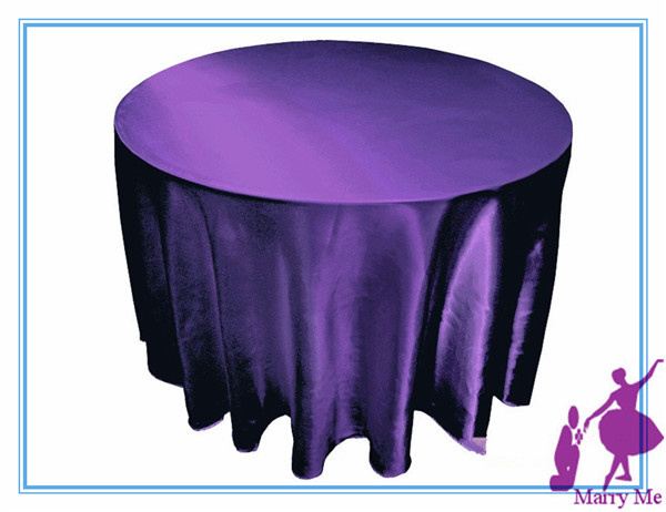 Charmant 15pcs 108u0027u0027 Purple Round Table Cloths Satin Tablecloth For Wedding Party In  Tablecloths From Home U0026 Garden On Aliexpress.com | Alibaba Group