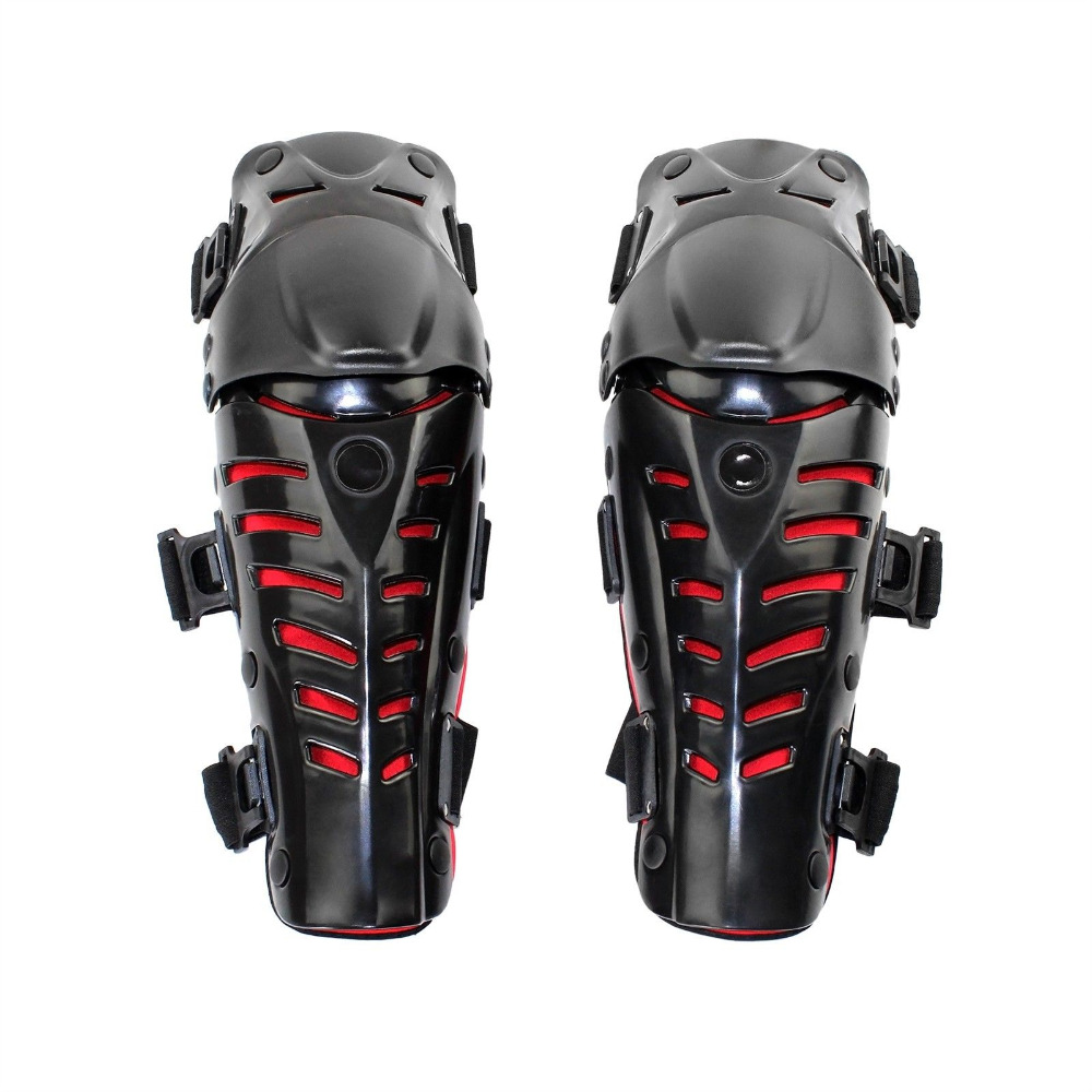 Motorcycle Racing Motocross Knee Pads Protector Guards Protective Gear Black/&Red