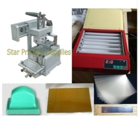 2019 Upgrade Manual Pad Printer Printing Machine 8x12cm + UV exposure polymer plate maker package with supplies