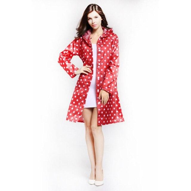 Über Knie Damen Dot 36Off Us19 88 Mantel Kapuze Länge weibliche Mit Packtasche Regenjacke Lange Regen Wasserdichte Frauen Tasche Poncho nPwO80kX