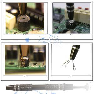 Image 5 - 1pc電気技師ハンドツールセット部品グリッパーチップピックアップツール 4 爪のためにしっかり保持キャッチャーicチップコンポーネント金属グラバー