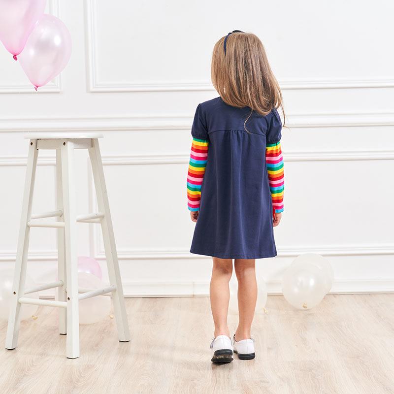 HTB1J.4HXPzuK1RjSspeq6ziHVXaJ DXTON 2018 New Girls Dresses Long Sleeve Baby Girls Winter Dresses Kids Cotton Clothing Casual Dresses for 2-8 Years Children