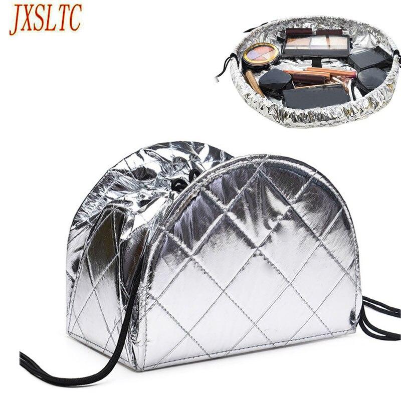 2018 New Drawstring Cosmetic Bag Travel Lazy Makeup Storage Bag Ladies Cosmetics Organizer Folding Travel Make Up Bag wholesale striped drawstring wrap around makeup bag