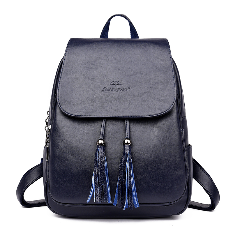 Fashion Women Backpacks Women's Leather Backpacks Female School Backpack Women Shoulder Bags For Teenage Girls Travel Back #6