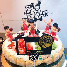 cake decorating hoopman basketball birthday party topper toys for kids children decorations cupcake toppers