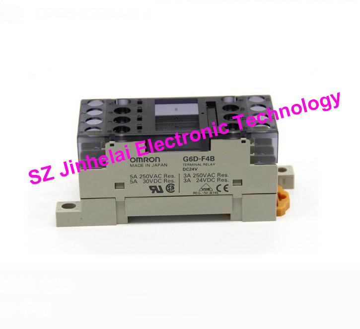 OMRON G6D-F4B DC24V 4NO New and original Relay terminal module free shipping 1pcs lot original modular solid state relays g6d f4b dc24v