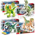 Bela 79086 4in1 Jurassic World Building Blocks Cartoon Movie Jurrassic Park 4 dinosaur Compatible With Lego