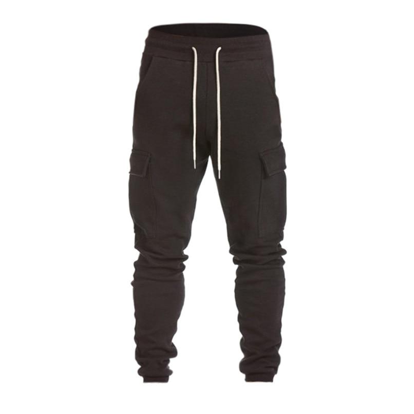 Cotton Men Full Sportswear Pants Casual Elastic Cotton Mens Fitness Workout Pants Sweatpants Trousers Jogger Pant #F40OT31 (11)