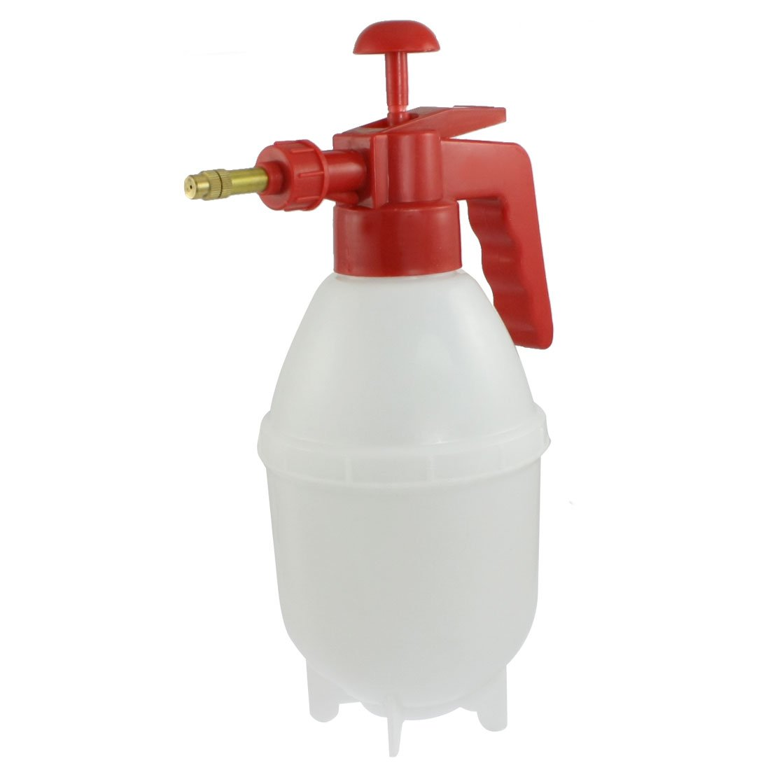 Punho vermelho Branco Corpo de Plástico frasco de Spray Garrafa de Água Pulverizador Pressurizado