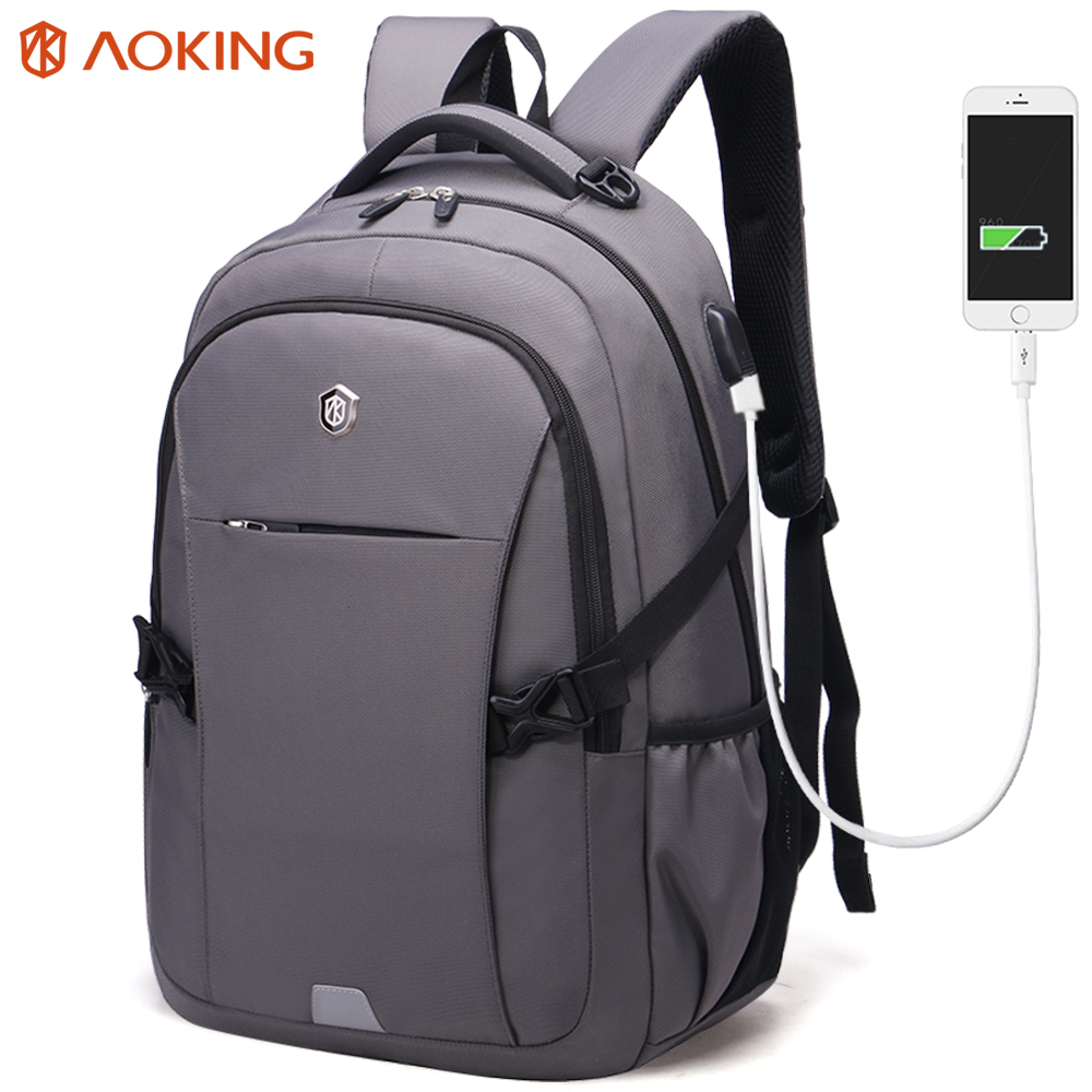 Aoking Brand Anti theft Fashion Trend Backpack Men s Laptop Backpacks Multifunction School Bags Large Capacity