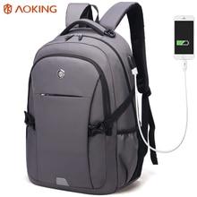 Aoking Marke Anti-theft Mode-Trend Rucksack männer Laptop Rucksäcke Multifunktions Schultaschen Große Kapazität Rucksack