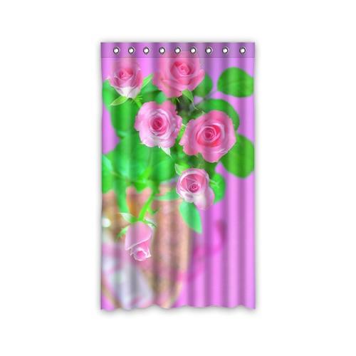Acquista all'ingrosso online fiore rosso tende da grossisti fiore ...