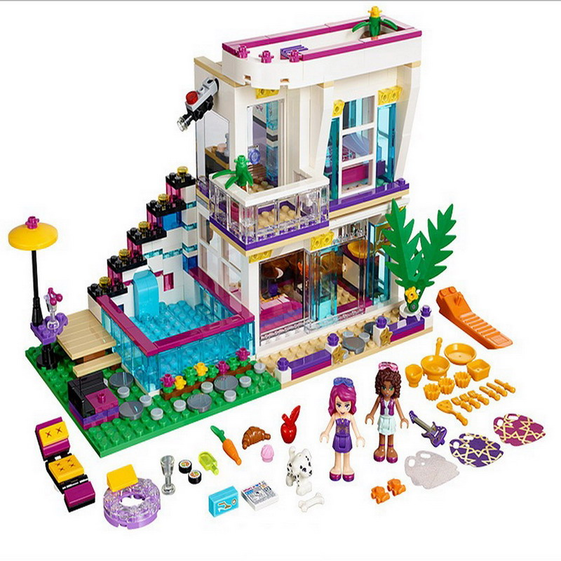 10498 BELA Friends Series Livi's Pop Star House Model Building Blocks Enlighten DIY Figure Toys For Children Compatible Legoe friends city park cafe building blocks toy set diy educational toys figure bricks toys compatible bela 10162 lepins friends 3061