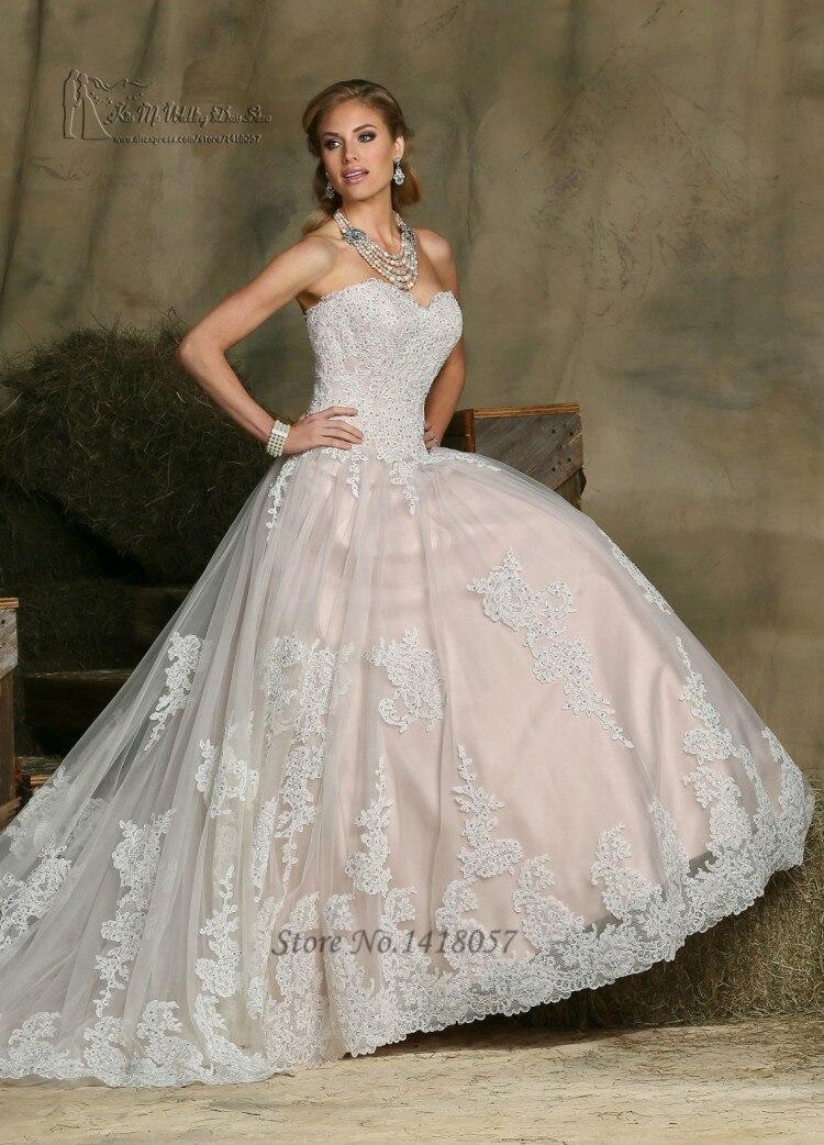 vestido de noiva vintage rosa de encaje blanco vestido de novia