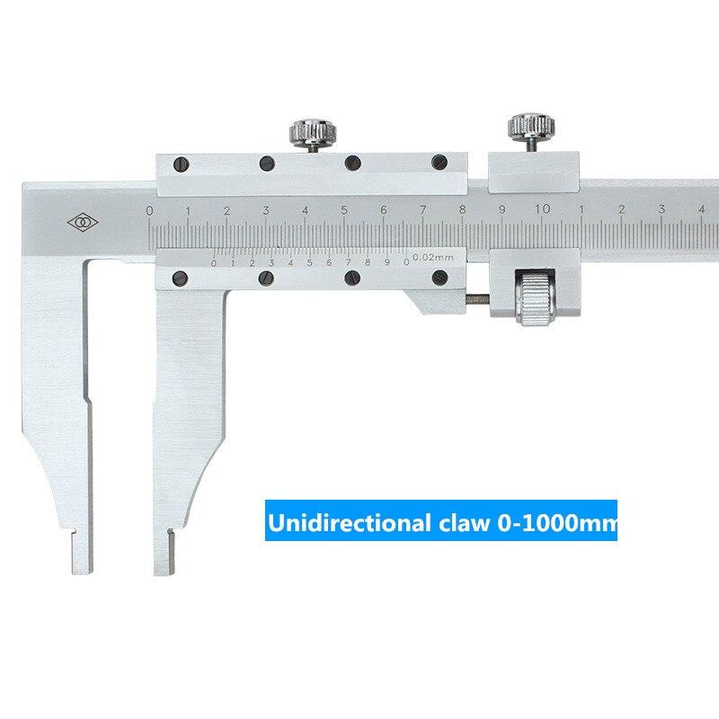 Pince unidirectionnelle 0-1000mm curseur étrier carte de marquage d'huile échelle en acier inoxydable pied à coulisse - 4