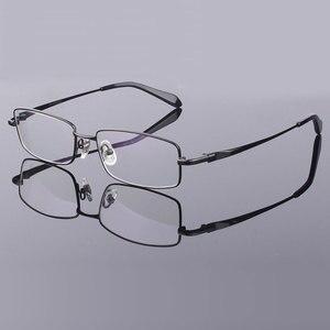 Image 5 - Hotony Mode Mannen Titanium Legering Brilmontuur Optische Brillen Recept Brillen Volledige Velg Frame Bril Vision Frame