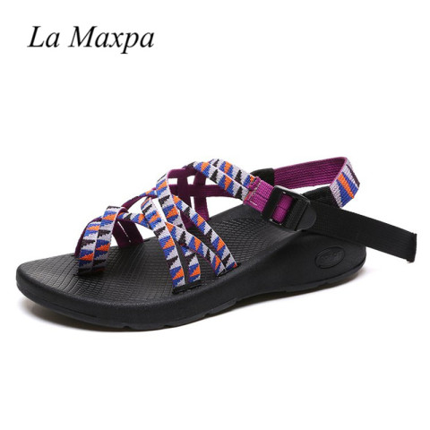 Women Bohemia Sandals Ethnic Style Sandals  Gladiator Flats Shoes Buckle Strap Sandals Zapatos Mujer Tacon 2018 Chaussures Femme Lahore