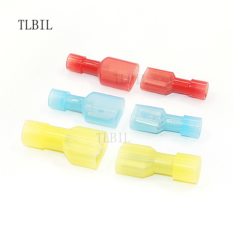 Electrical Crimp 6.3mm Female Spade Uninsulated Terminals 1.5 To 2.5mm Gauge