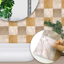 Funlife High-grade marble texture style tile stickers creative artist home decorative wall stickers living room kitchen sticker