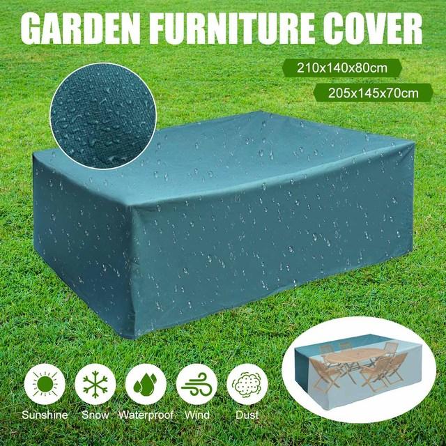 Outdoor Garden Furniture Rain Cover Waterproof Oxford Wicker Sofa Patio Snow Protection Set