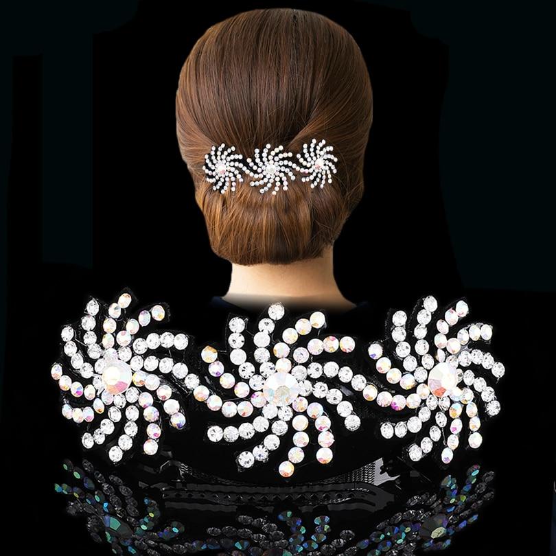 AWAYTR New Fashion Rhinestone Hairpin For Women Banana Clip Bow Girls Hair Clip Elegent Ladies Barettes Haar Accessoires