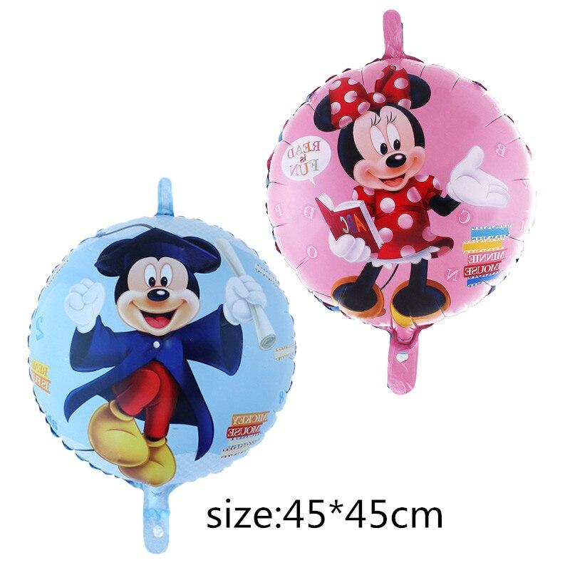 1pcs Mickey Minnie cartoon balloon Birthday party supplies aluminum foil balloons Party inflatable air balloon 45*45cm Kids toys