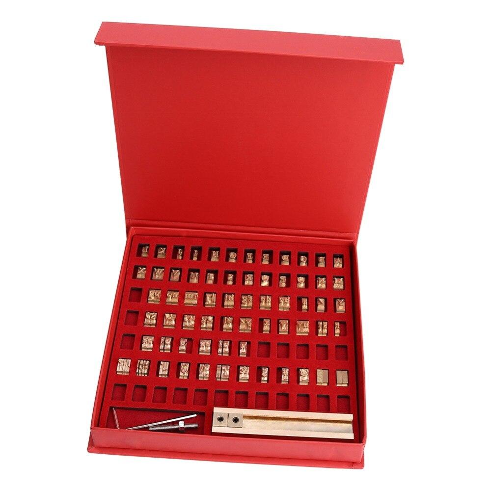Machine de marquage à chaud de marque de poche outil de timbre en cuir bricolage t-slot lettres en cuivre personnalisées police découpée avec des matrices Deboss moule LOGO en relief