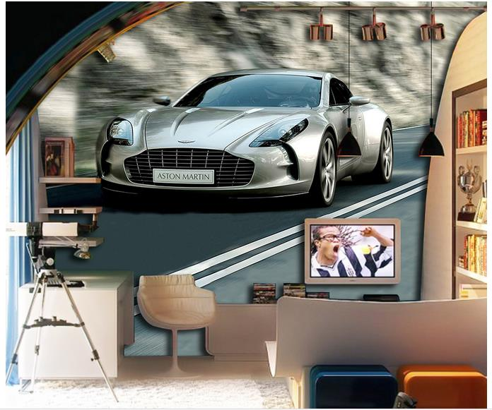 Customized 3d wallpaper 3d wall murals wallpaper Car the street