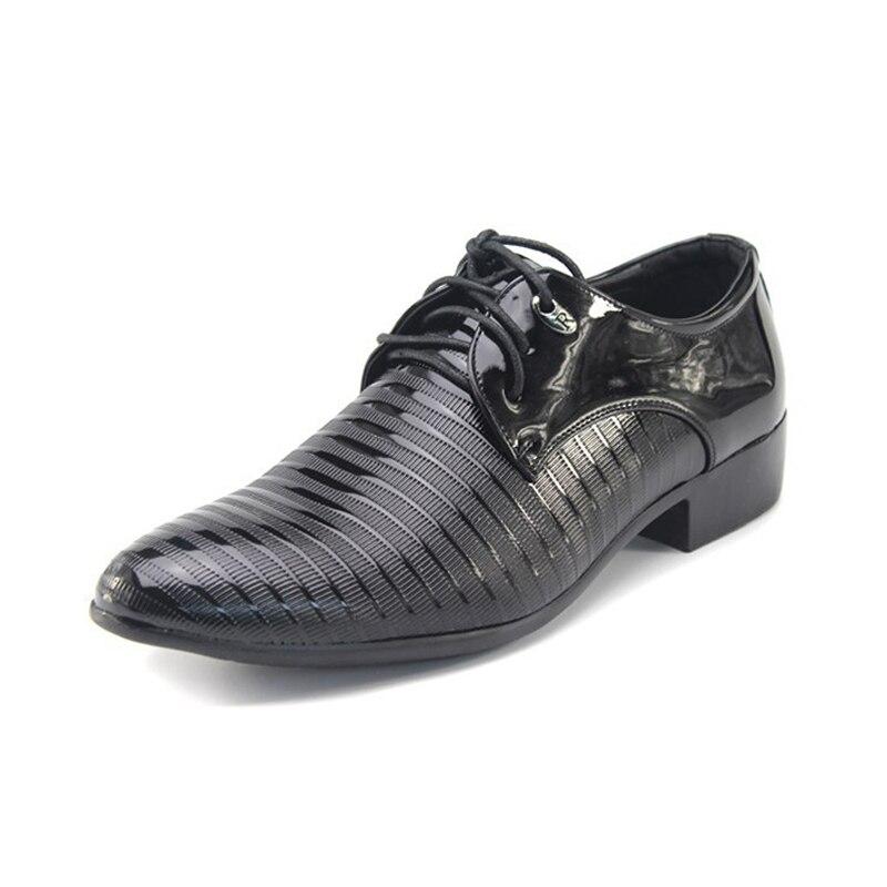 Bureau Hombre Mode Oxford Lacets Mariage De D'affaires Hommes Formelle Zapatos Appartements Chaussures Cuir En À Vestir Robe 05 Black Pour YaYrq