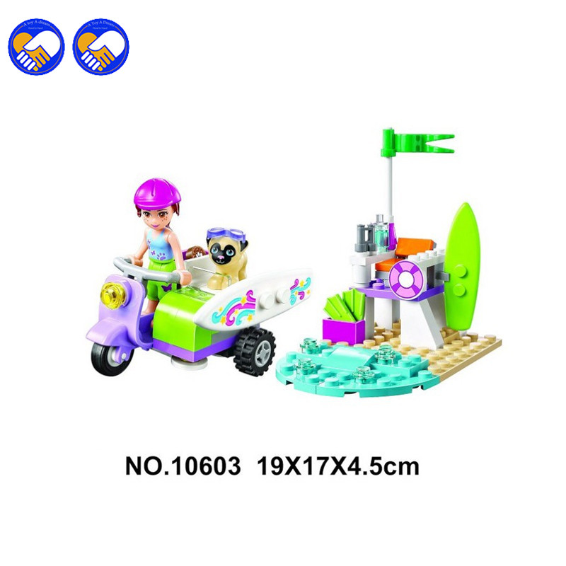 A toy A dream 10603 Mia's Beach Scooter Building Blocks set 82pcs Girls Bricks toys Christmas Gift Compatible 41306 футболка toy machine no scooter true black