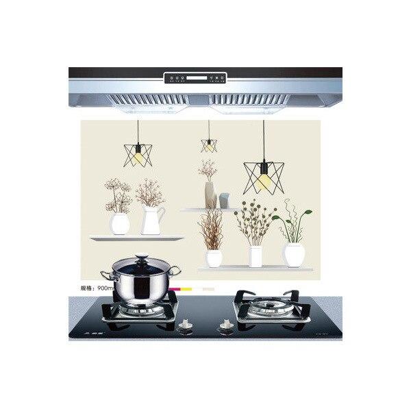 Самоклеющиеся обои для кухни из алюминиевой фольги, наклейки для кухонного шкафа, маслостойкие водонепроницаемые Мультяшные наклейки на стену - Цвет: G