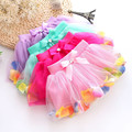2-6Y New girls skirt ball gown net flower petal beads bow baby cake skirt pettiskirt 4 colors children kids baby girls skirts
