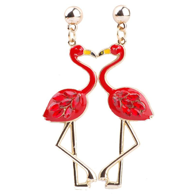 Flamingo oorbellen h&m