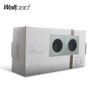 Image 4 - Wallpad L6 Interruptor de pared de vidrio templado, 1 entrada y 1 vía, 2 vías, con enchufe de pared de la Unión Europea, toma de corriente alemana, diseño redondo de 16A