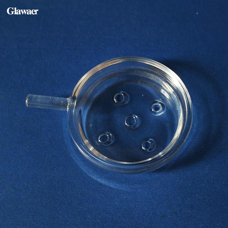 Shisha 2 pz/lotto vetro borosilicato narghilè carbone vassoio salver e ciotola di vetro piatto chicha somking narghilè accessori