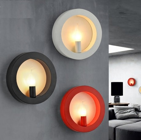 Simple Style Round Iron Wall Sconce Modern LED Wall Light Fixtures For Bedroom Bedside Wall Lamp Home Lighting Lampara simple style with usb switch modern led wall light fixtures read bedside wall lamp fabric shade iron wall sconce home lighting
